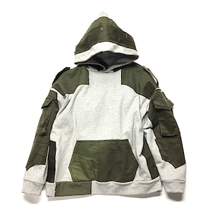 Remake Hoodie Grey×Military 【hoodie02】
