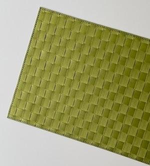 プレースマット   撥水性アミランチョン  ビスタチオグリーン (ドイツ製 )