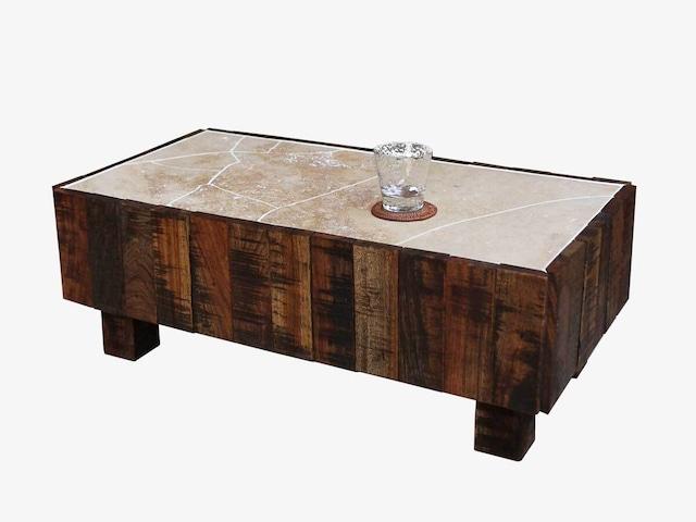 解体材と継石のローテーブル【ストレイン001】一点物