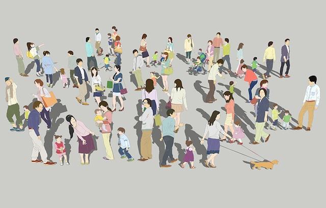 人物イラストSketchUp素材 4up_color01_20_4 - メイン画像