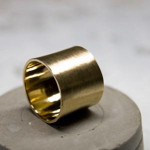 真鍮フラットリング 15.0mm幅 マット 3号~27号|WKS FLAT RING 15.0 bs matte|FA-373