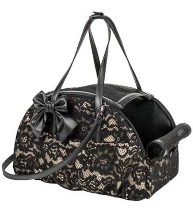 【20%オフ+送料無料★即納MINI】FOR PETS ONLY ARIA BAG BLACK LACE ECOLEATHER (PE2019-B2)