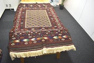 192×129  #1200-0741 赤を基調として壮大に織り上げたアフガンモダンキリム