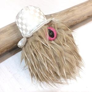MAMEDENQ×2月 モコモコノイトコ ハリネズミ×市松帽キャットアイ