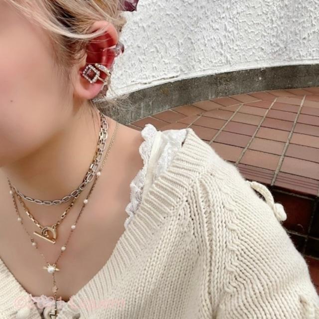 Liquem /ロゴロングチェーンネックレス