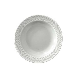 波佐見焼 翔芳窯 ローズマリー リムプレート 皿 約10cm マットグレー 33403