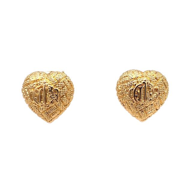 Christian Dior クリスチャン ディオール ロゴ ハート イヤリング ゴールド エンブレム vintage ヴィンテージ オールド gvxcmw