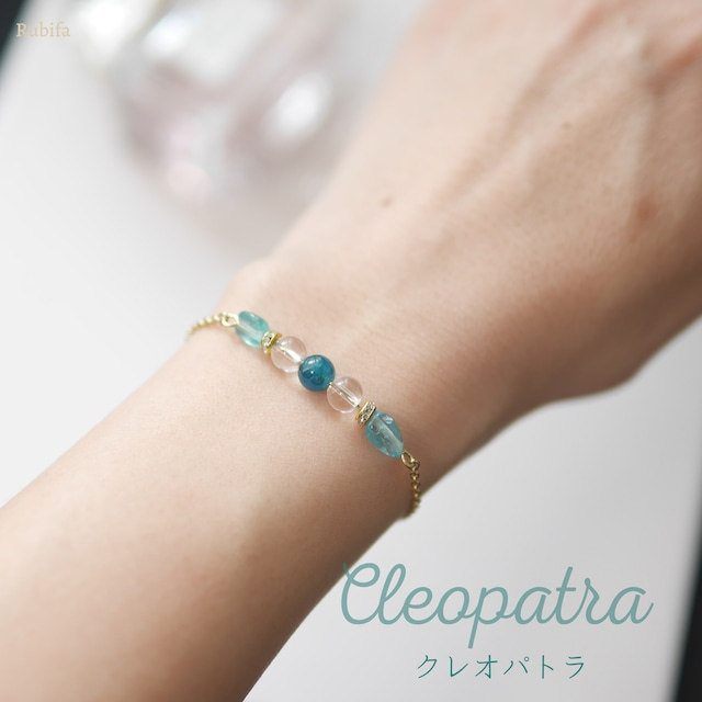 世界三大美女ブレス【Cleopatra】絆を強める♡アパタイト×水晶