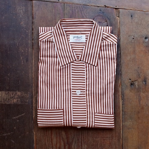 """New Old Stock !! 1950-60s """"Town Topic"""" Open Collar Cotton Shirt / デッドストック ヴィンテージ コットン シャツ"""