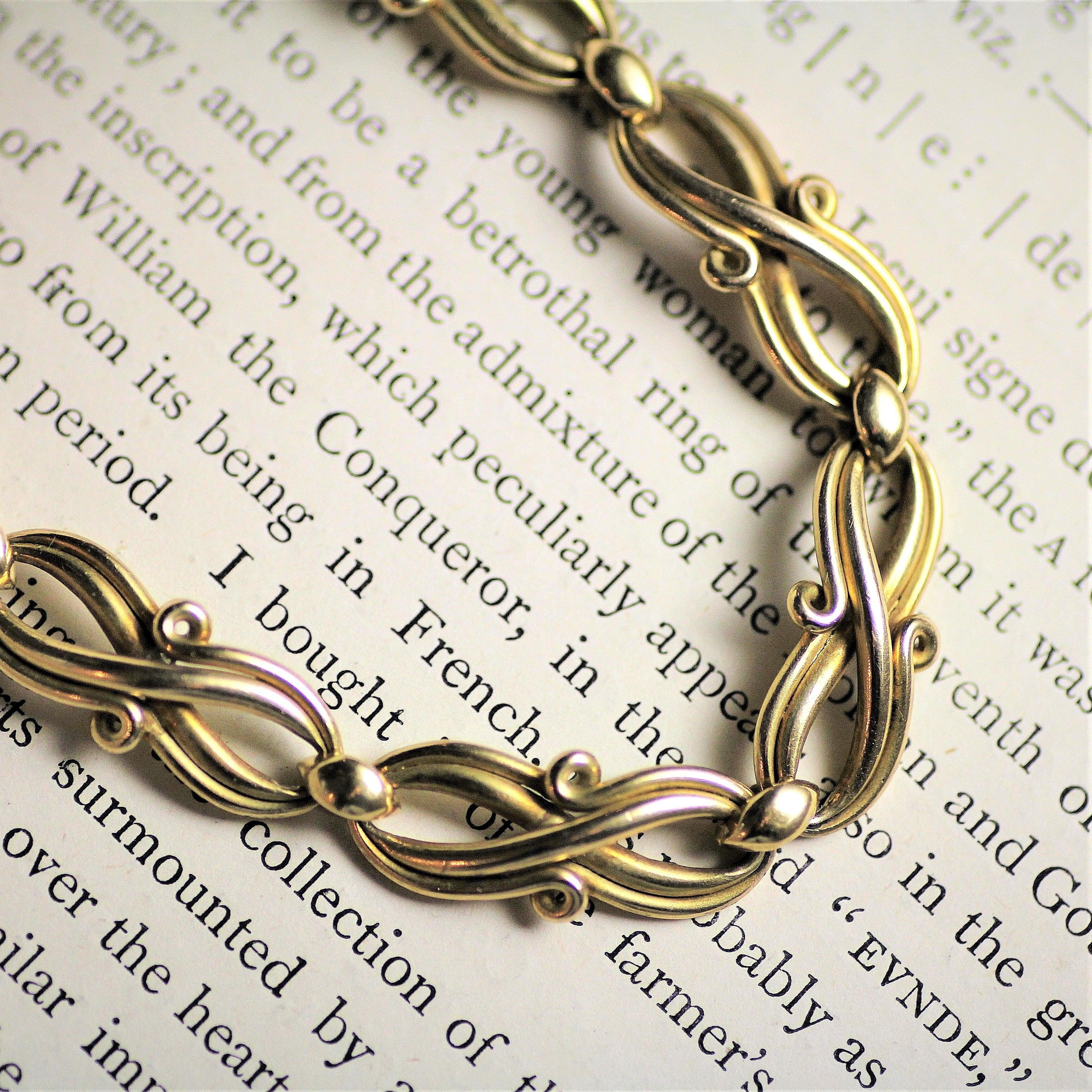 French Gold Bracelet Circa 1900   フレンチ ゴールド ブレスレット