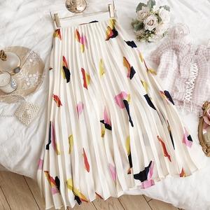 2colorアコーディオンプリーツスカート
