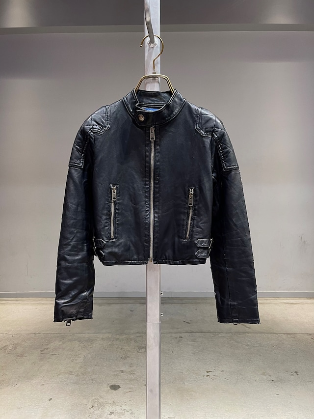 (KD274) 130cm Ralph Lauren leather riders jacket