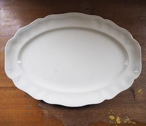 Sarreguemines(サルグミンヌ)花リム オーバル皿 大 C