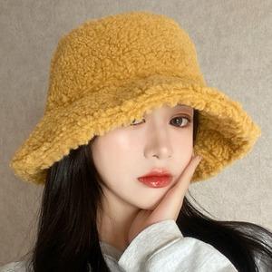 【アクセサリー】6色大活躍着心地良い秋冬ファッション無地保温スエード生地ハット帽子36568217