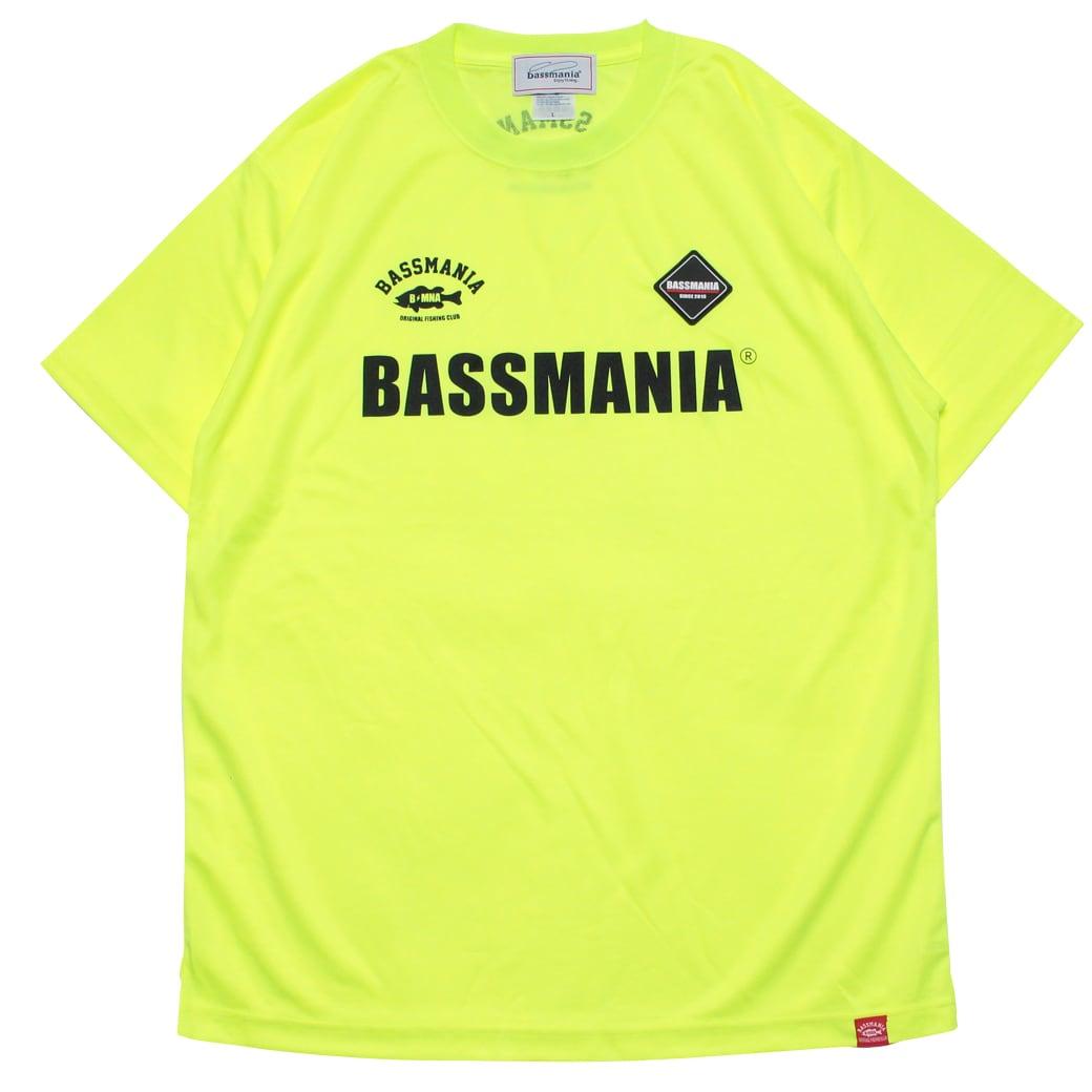 BASSMANIAロゴシリコンワッペンUV dry Tシャツ [N.YEL]