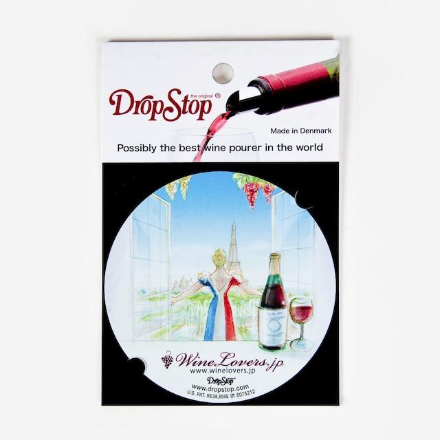 【アウトレット】ワインの液だれ防止 ドロップストップVol.1 / フランス 1枚入り DropStop DSS002