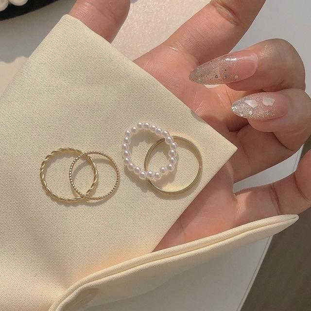 thin ring 4pc's set 2c's