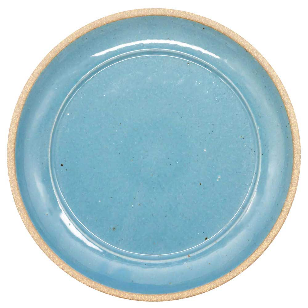 萬古焼 藍窯 ディナープレート 皿 直径26cm 「エスタ Esta」 赤土ブルー AGM-200109