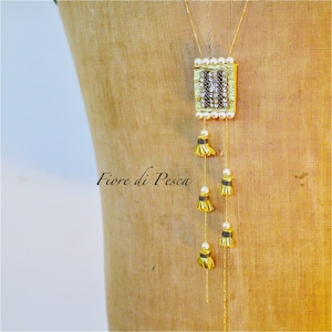 Beatrice Tassel Necklace (pearl)