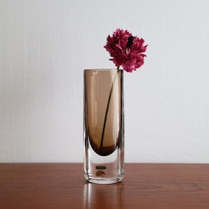 Smalandshyttan / スウェーデン ガラス ヴェース ブラウン