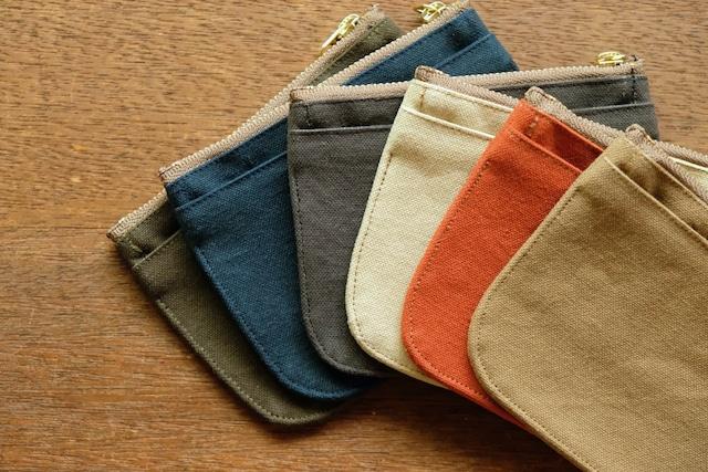 mini財布《10号帆布パラフィンワッシャー》