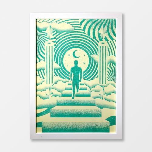 Go For A Walk A3 Risograph Print