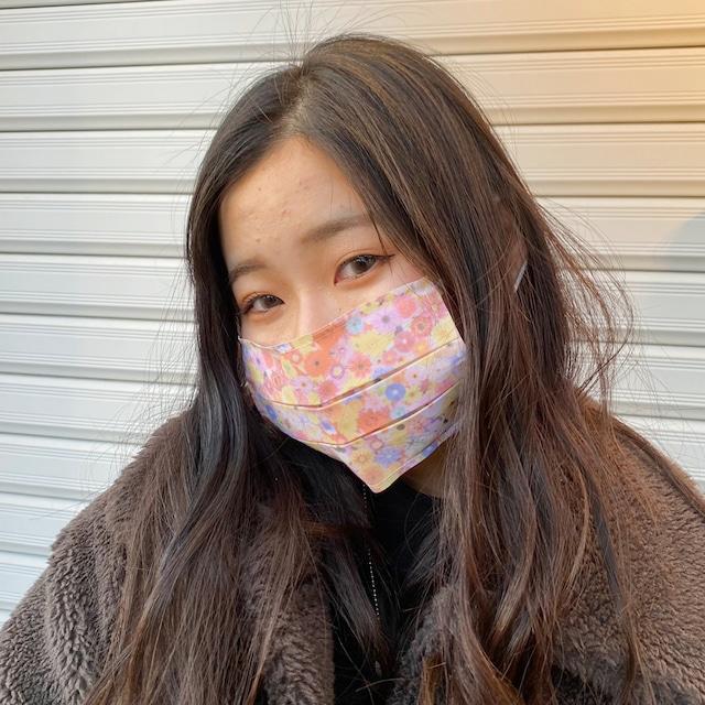 【アップマークサム】いつものマスク姿がオシャレに変身!不織布マスクカバー naamio 【フラワーピンク】&クレンゼガーゼマスク(一般サイズ)セット