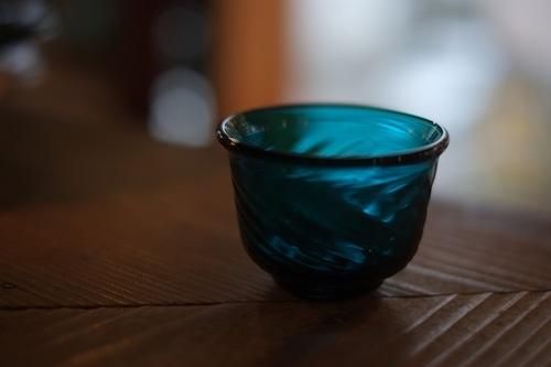 【倉敷ガラス・小谷栄次】◆◆◆ぐい呑◆◆◆小谷ブルー◆◆◆