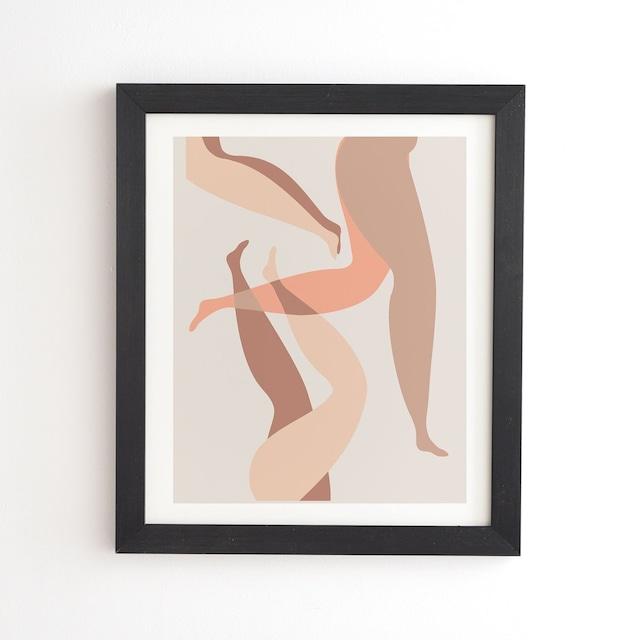 フレーム入りアートプリント  CHILLING IN NEUTRALS  BY MAMBO ART STUDIO【受注生産品: 11月下旬頃入荷分 オーダー受付中】