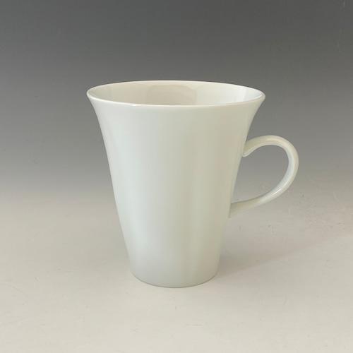 【中尾純】白磁五方押マグカップ