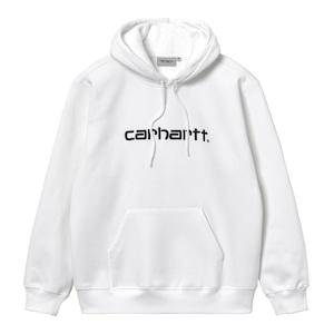 Carhartt (カーハート) HOODED CARHARTT SWEATSHIRT - White / Black SIZE L