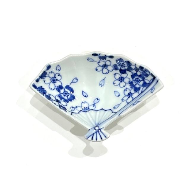 撫子  扇小皿