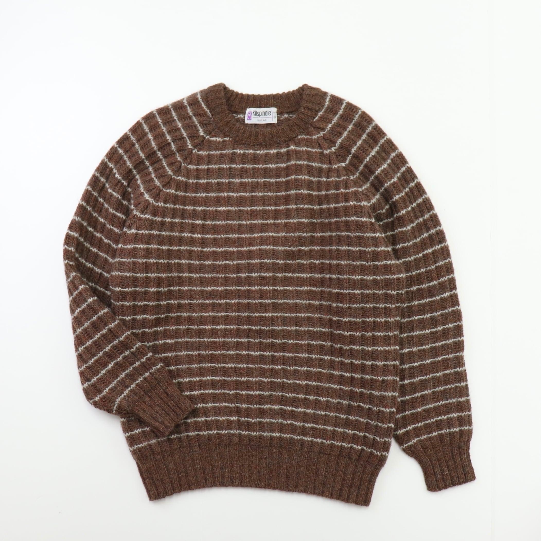 "70~80s  "" Kilspindie ""  Wool  Sweater  Scotland   80年代頃 ヴィンテージ ウールセーター ニット A686"