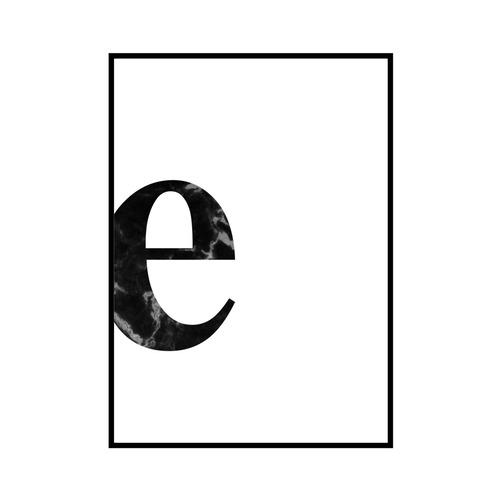 """""""e"""" 黒大理石 - Black marble - ALPHAシリーズ [SD-000532] A4サイズ ポスター単品"""