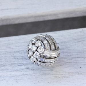 50's Diamond & Platinum Ring  1950年代のダイヤモンドリング
