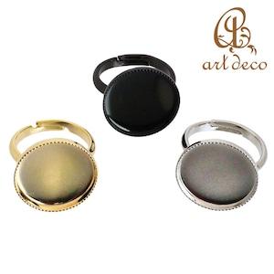 アクセサリー パーツ 指輪 リング 円形 丸 10個 空枠内径16mm [ri-0312] ハンドメイド オリジナル 材料 金具 装飾 カラワク 空枠