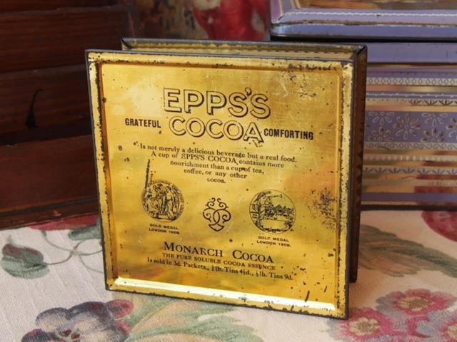 イギリスアンティーク ココアの缶(EPPS'S COCOA)