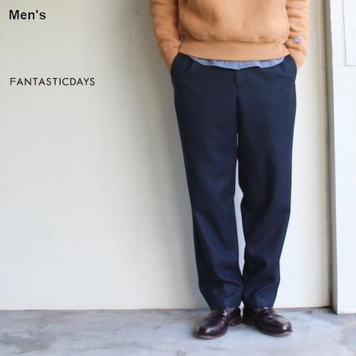 FANTASTICDAYS ウールテーパードイージーパンツ FLANNEL-M-83-01 (ネイビー)