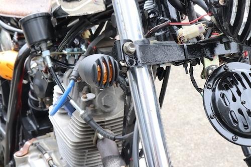 バイク ウインカー バードゲージ  ウインカー マッドブラック 艶消しブラック 2個セット カスタム