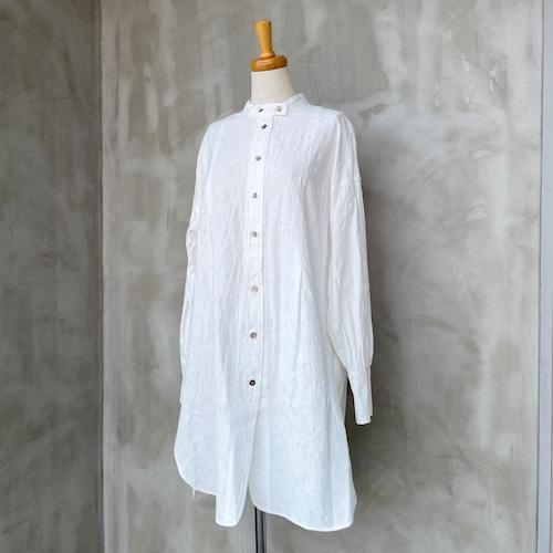 NOMBRE IMPAIR/ビッグペイズリージャガードロングシャツ