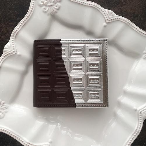 革のビターチョコ・二つ折り財布(銀の包み紙)