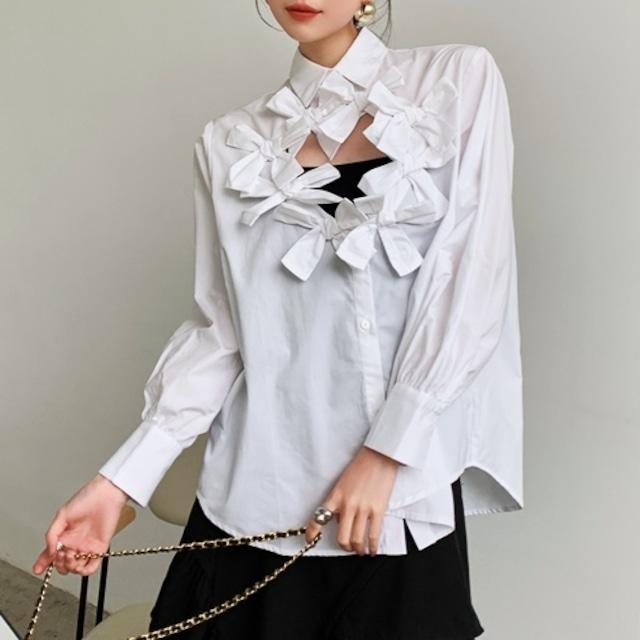サークルリボンシャツ(2color) B210806