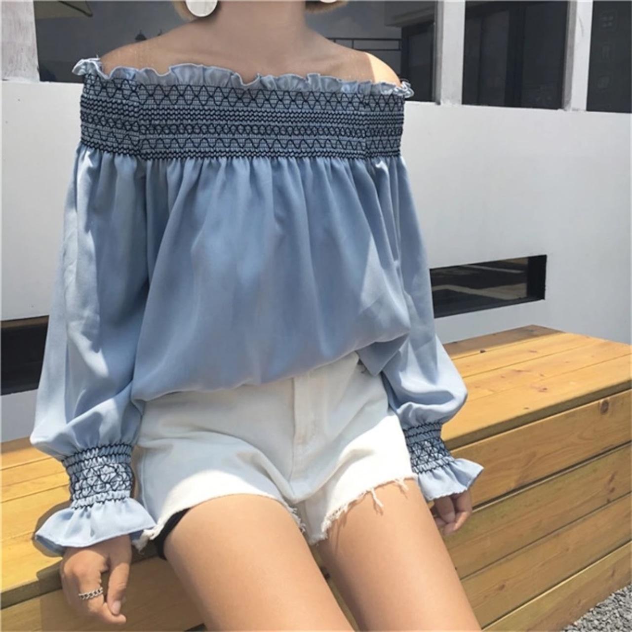 【即納】vintage blouse