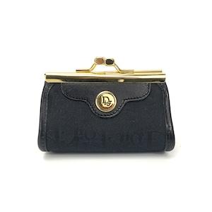 Christian Dior クリスチャン ディオール コインケース トロッター がま口 小銭入れ 財布 ブラック nwrwz6