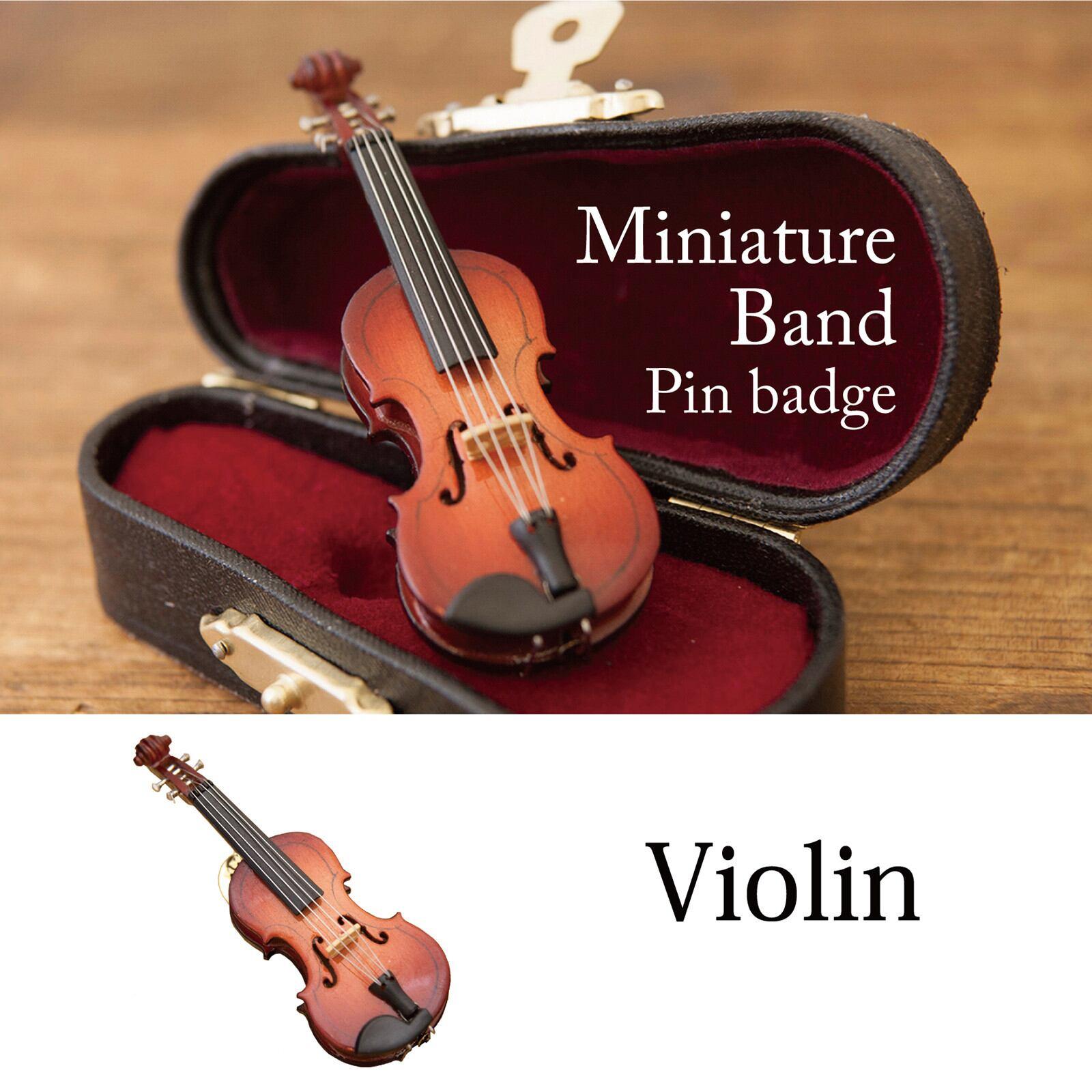 ミニチュアバンド[ピンバッジ(バイオリン)]<楽器>