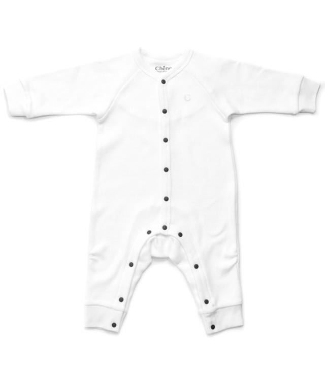 【ベビー服】前開きカバオール / スノーホワイト / 70サイズ