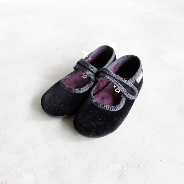 《CIENTA》フォーマルストラップ / veloure black /14-21cm