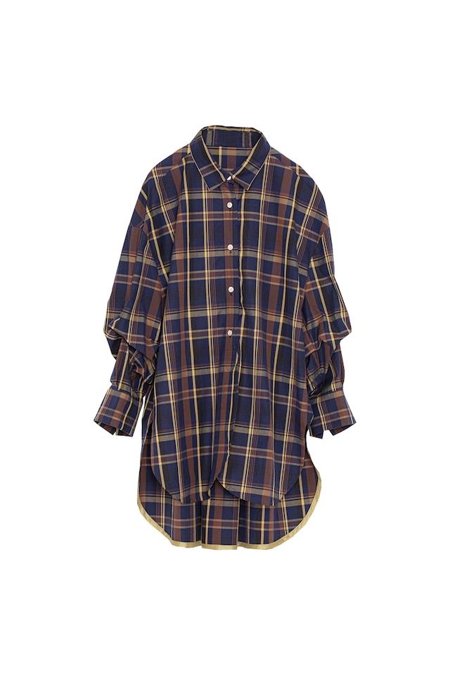 ラウンドヘムシャツ< navy >