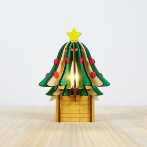 「クリスマスツリー」木製フロアランプ