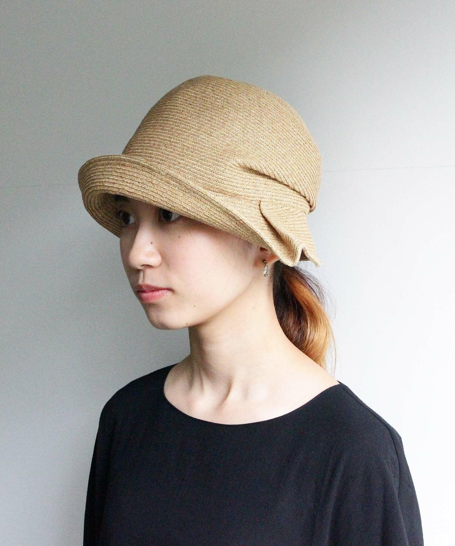 UV紫外線防止加工・サイドにタックが入った帽子(HUT01b)